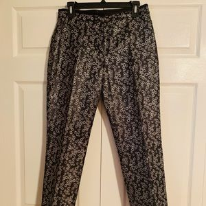 RARE J Crew Collection Metallic Silk/Cotton Slacks
